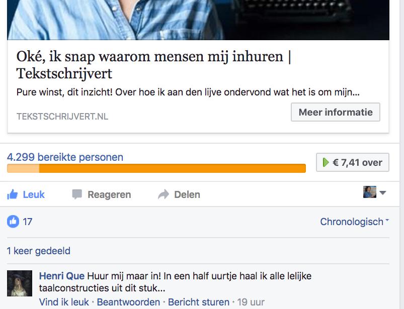 facebook-advertentie-tekstschrijvert