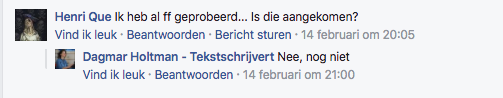 reactie facebook advertentie