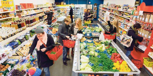 Turkse supermarkt tekstschrijver