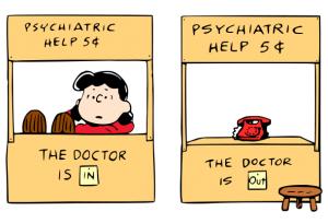 lucy peanuts psychiatrist