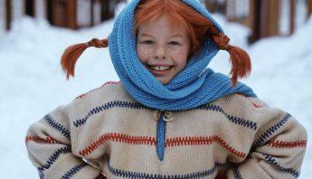 pippi langkous sneeuw trui